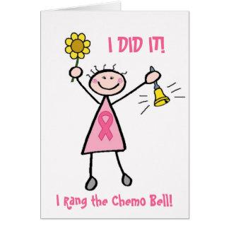 Cartão cor-de-rosa de Chemo Bell da fita