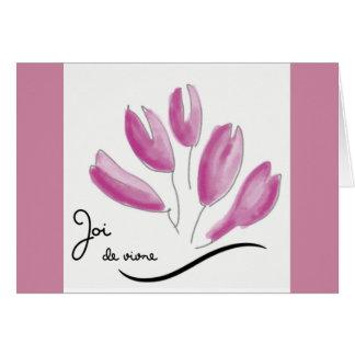Cartão cor-de-rosa de Joi de vivre