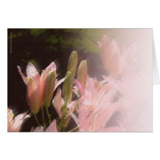 Cartão cor-de-rosa de Lillies