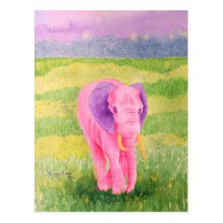 Cartão cor-de-rosa de Mingo
