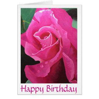 Cartão cor-de-rosa delicioso do feliz aniversario