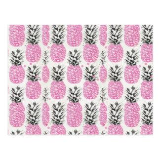 Cartão cor-de-rosa do abacaxi
