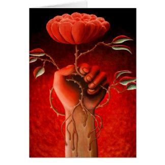 Cartão cor-de-rosa do amor