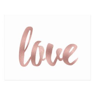 Cartão cor-de-rosa do amor do ouro
