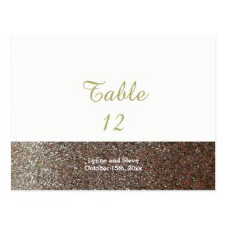 Cartão cor-de-rosa do assento da mesa do brilho do
