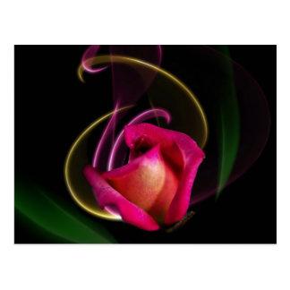 Cartão cor-de-rosa do carrossel mágico