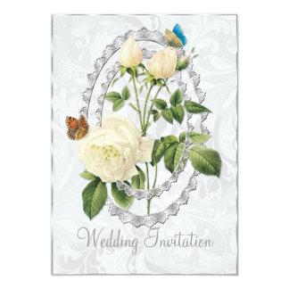 Cartão cor-de-rosa do convite do casamento do Posy