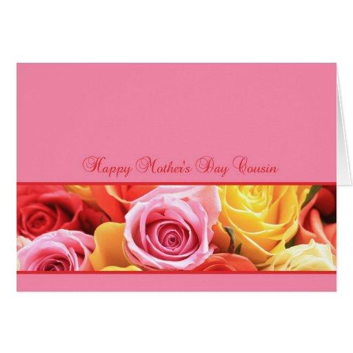 Cartão cor-de-rosa do dia das mães do primo