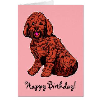Cartão cor-de-rosa do feliz aniversario de