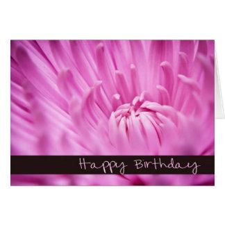 Cartão cor-de-rosa do feliz aniversario do
