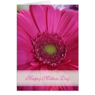 Cartão cor-de-rosa do feliz dia das mães da
