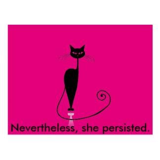Cartão cor-de-rosa do gatinho