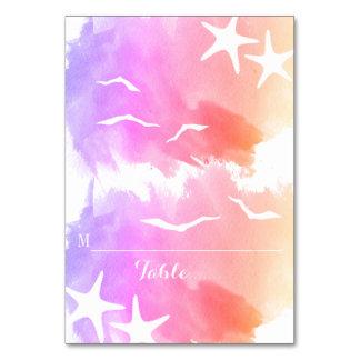 Cartão cor-de-rosa do lugar do casamento do verão