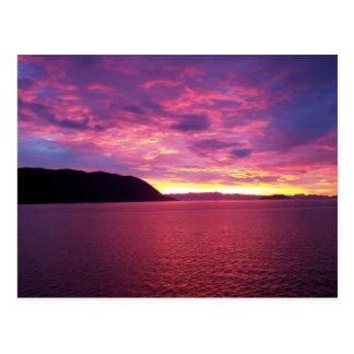 Cartão cor-de-rosa do nascer do sol