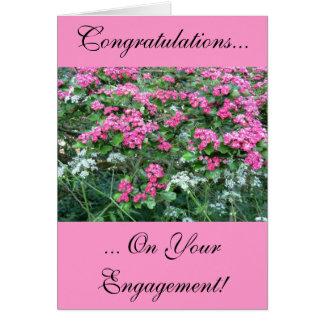 Cartão cor-de-rosa do noivado do Hawthorn