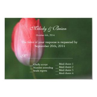 cartão cor-de-rosa do rsvp da flor da tulipa, convites personalizado