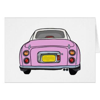 Cartão cor-de-rosa do vazio do carro de Nissan