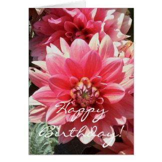Cartão cor-de-rosa doce do feliz aniversario de