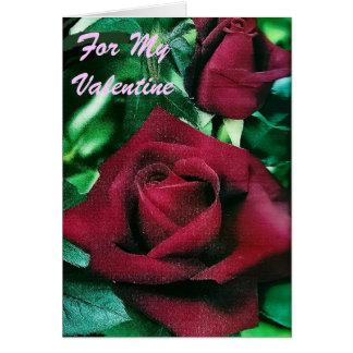 Cartão cor-de-rosa dos namorados