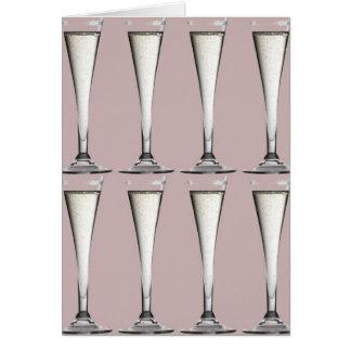 Cartão cor-de-rosa e branco de Champagne