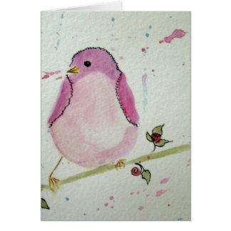 Cartão cor-de-rosa extravagante do vazio do