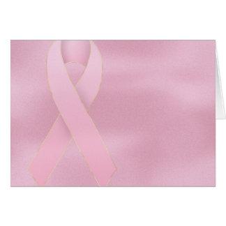 Cartão cor-de-rosa macio do cancro da mama da fita