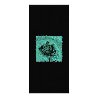 Cartão cor-de-rosa metálico da cremalheira 10.16 x 22.86cm panfleto