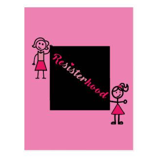 Cartão cor-de-rosa Resisterhood político