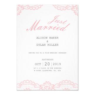 Cartão cor-de-rosa romântico dos anúncios do