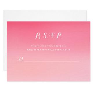 Cartão cor-de-rosa RSVP da resposta do casamento