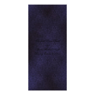 Cartão cor-de-rosa shakespeariano do menu do 10.16 x 22.86cm panfleto