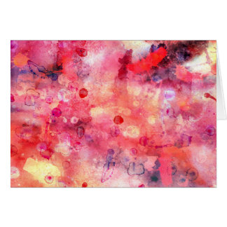 Cartão cor-de-rosa vermelho da aguarela