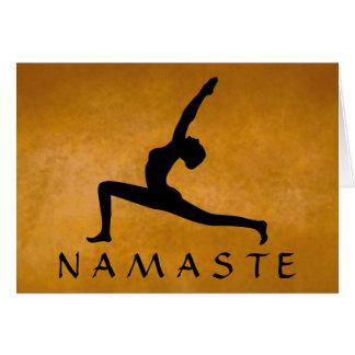 Cartão Cor feita sob encomenda Namaste da silhueta do