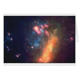 Cartão Cor galáctica abstrata da nuvem da nebulosa