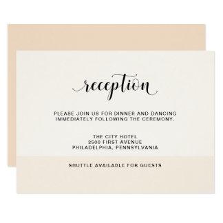 Cartão Cora a recepção de casamento subtil das listras da