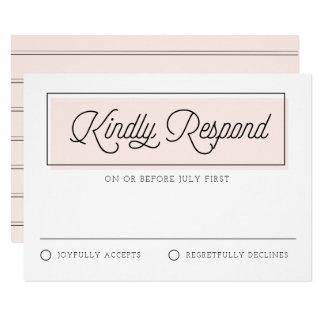 Cartão Cora o bloco RSVP Wedding minimalista da cor