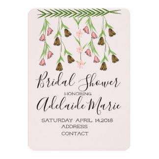 Cartão Cora o design 2 do chá de panela das flores