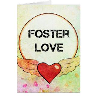 Cartão Coração adoptivo da aguarela do amor
