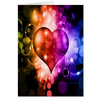 Cartão Coração colorido e lindo
