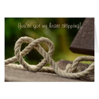Cartão Coração da corda