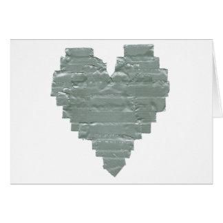 Cartão Coração da fita adesiva
