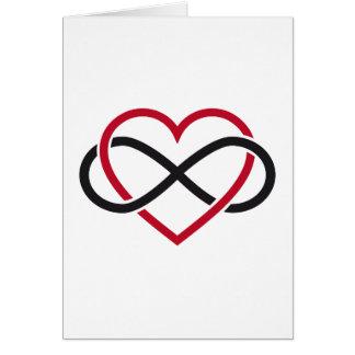 Cartão Coração da infinidade, nunca terminando o amor