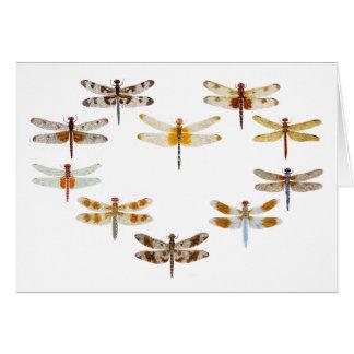 Cartão Coração da libélula