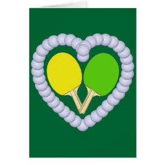 Cartão Coração da pá de Pong do sibilo de YG