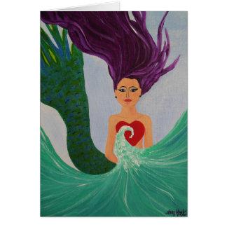 Cartão Coração da sereia