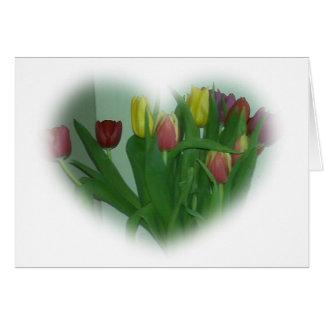 Cartão Coração da tulipa