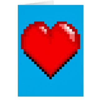 Cartão Coração da vida do videogame - coração do pixel