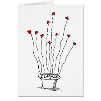 Cartão Coração Daisys