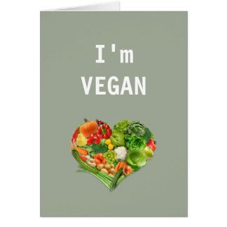 Cartão Coração das frutas e legumes - Vegan