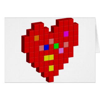 Cartão coração de 8 bits